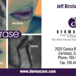 Business card for Dermacare of North County San Diego